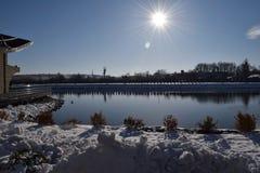 Vacanza di inverno nel lago Fotografia Stock