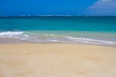 Vacanza di paradiso della spiaggia dell'Hawai Fotografia Stock Libera da Diritti