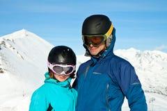 Vacanza di sport di inverno Fotografie Stock