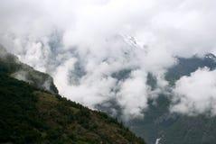 Vacanza e viaggio di turismo Montagne e fiordo Nærøyfjord in Gudvangen, Norvegia, Scandinavia Fotografia Stock Libera da Diritti