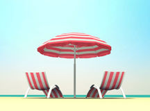 Vacanza estiva sulla spiaggia Immagine Stock