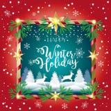 Vacanza invernale felice royalty illustrazione gratis
