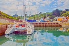 Vacanza moderna dell'yacht Fotografia Stock