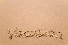 Vacanza in sabbia orizzontale Immagini Stock Libere da Diritti