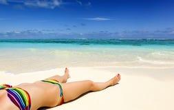 Vacanza su un paradiso tropicale dell'isola Immagine Stock Libera da Diritti