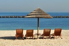 Vacanza su una spiaggia Fotografie Stock