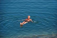 Vacanza sul mar Morto Fotografia Stock Libera da Diritti