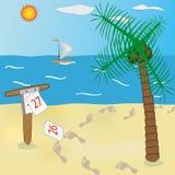 Vacanze estive alla spiaggia fotografie stock libere da diritti