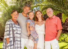 Vacanze estive dei nonni Fotografie Stock