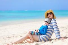 Vacanze estive della famiglia Immagine Stock Libera da Diritti