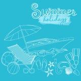 Vacanze estive della spiaggia Immagini Stock
