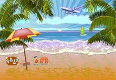 Vacanze estive e progettazione di viaggio Immagine Stock