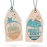 Vacanze estive Hang Tags Immagini Stock