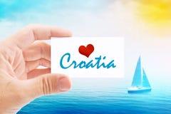 Vacanze estive sulla spiaggia della Croazia Fotografie Stock Libere da Diritti