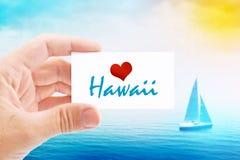 Vacanze estive sulla spiaggia delle Hawai Fotografie Stock Libere da Diritti
