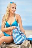 Vacanze estive, vacanza e concetto della spiaggia Immagini Stock Libere da Diritti
