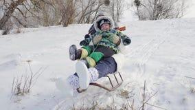 Vacanze invernali di divertimento video d archivio