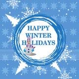 Vacanze invernali felici Fotografia Stock Libera da Diritti