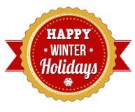 Vacanze invernali felici Fotografie Stock Libere da Diritti