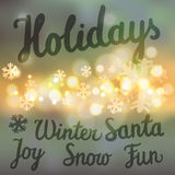 Vacanze invernali fissate Fotografia Stock