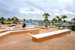 vacanze sulla spiaggia in cancun Messico Fotografia Stock Libera da Diritti