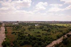 Vacaresti湖和沼泽在布加勒斯特 库存照片