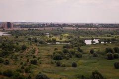 Vacaresti湖和沼泽在布加勒斯特 免版税库存照片