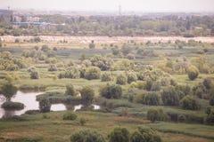 Vacaresti湖和沼泽在布加勒斯特 免版税库存图片