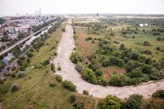 Vacaresti湖和沼泽在布加勒斯特 图库摄影