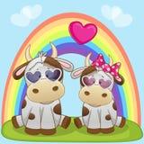 Vacas de los amantes stock de ilustración