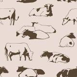 Vacas inconsútiles ilustración del vector