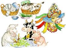 Vacas lindas divertidas libre illustration