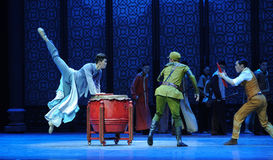 Vacated leaps-The third act of dance drama-Shawan events of the past Stock Photos