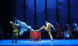 Vacated leaps-The third act of dance drama-Shawan events of the past Stock Image