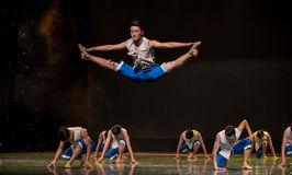 Vacated leaps-The Yellow River-The national folk dance Stock Images