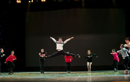 Vacated leaps-The Yellow River-The national folk dance Royalty Free Stock Photo