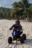 Vacatin na praia de Klayar, Pacitan Foto de Stock Royalty Free