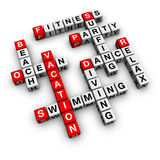 Vacation. (from crossword scrabble series Royalty Free Stock Images
