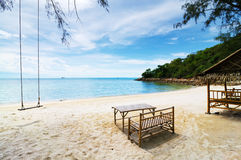 Vacation. The sea at Pangan island Surattani , Thailand stock photo