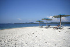 Vacation!. A deserted beach on a small island in Andaman Sea in Thailand Royalty Free Stock Images