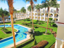 Vacation. Resort with a tilt-shift effect Stock Photo