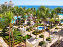 Vacation. Resort with a tilt-shift effect Royalty Free Stock Photo