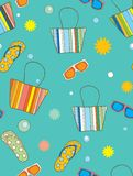 Vacation background. Vector illustration of seamless vacation background Royalty Free Stock Photos