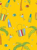 Vacation background. Vector illustration of seamless vacation background Royalty Free Stock Images