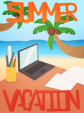 Vacation background card design Royalty Free Stock Photography