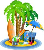Vacation  background,vector Stock Photo