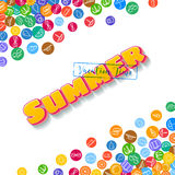 Vacation background with scattered summer icons Royalty Free Stock Photos