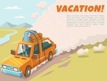 Vacation background with space for text Stock Image