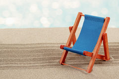 Vacation background with sun lounger Royalty Free Stock Images