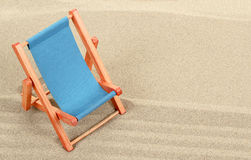 Vacation background with sun lounger Stock Images